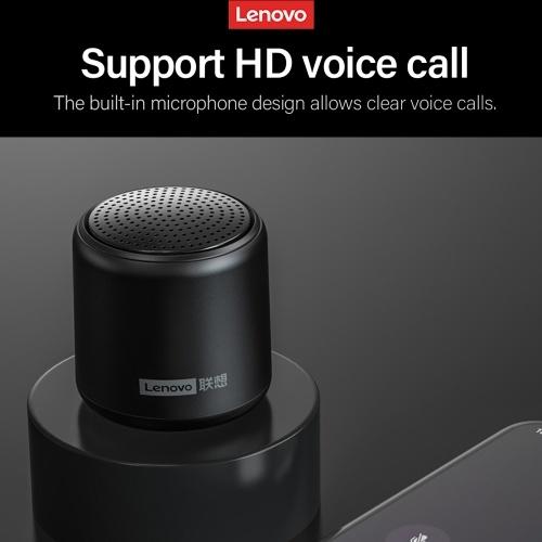 Lenovo L01 Wireless BT-Lautsprecher Tragbarer drahtloser Stereolautsprecher Audio-Player-Unterstützung HD Voice Call Life Wasserdichtes Weiß