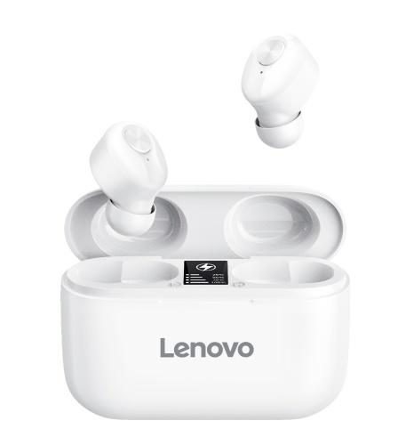 Lenovo HT18 Wireless BT Headphone TWS In-ear Sports Earbuds HiFi Sound Quality Sweatproof Noise Reduction Headphone White