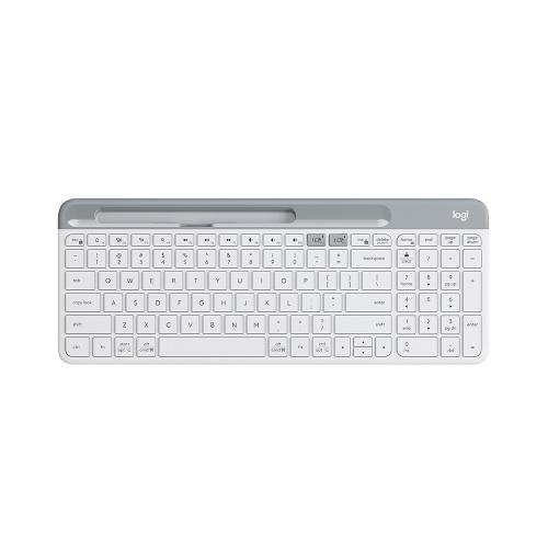 Logitech K580 Wireless Office Keyboard BT&Unifying Dual-mode Multi-device Ultra-thin Keyboard with Integrated Phone Bracket Black
