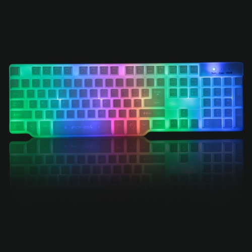 FOREV USB Wired Professional Gaming Imitation Mechanical Keyboard with Backlit for PC