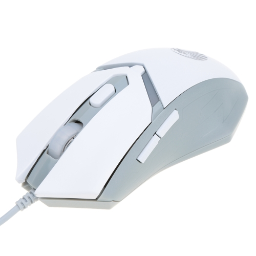 2000DPI Adjustable High Precision USB Wired 6D Buttons Gaming Esport Optical Mouse Mice with Weight Tuning Cartridge LED Light for PC