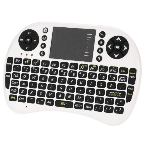 2.4G Mini USB Wireless Wersja angielska Klawiatura Touchpad i mysz Air Mouse Podświetlany podświetlenie 800mAh bateria Pilot na Androida Windows TV Box Smart Phone