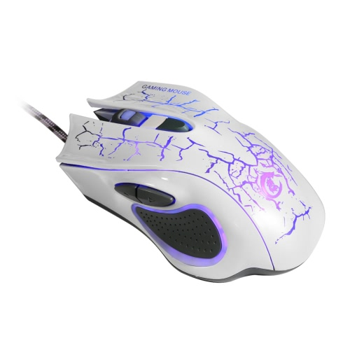 5500DPI/CPI 6D Button Optical Gaming Game Mouse/Mice 7 Color LED Light USB Wired Adjustable for Professional Gamers