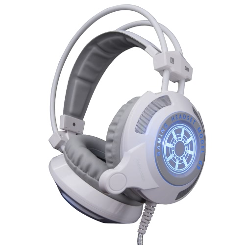 Cosonic G9 Professional Esport Gaming Stereo Music Headset Headphone Bass Vibration Over-ear USB 3.5mm Wired with Mic LED Light for Mac Laptop PC Computer