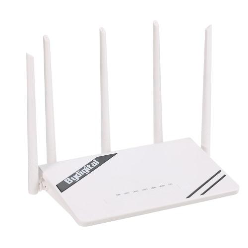 Roteador Gigabit Wi-Fi de Longa Distância sem fio de 300Mbps com Alta Potência 5 Antenas Externas Suporte 802.11b / g / n para Home Company Office Hotel