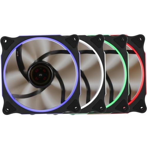Segotep 120mm Silent Computer Case Cooler Colling Fan LED Lights High Airflow 3P + D