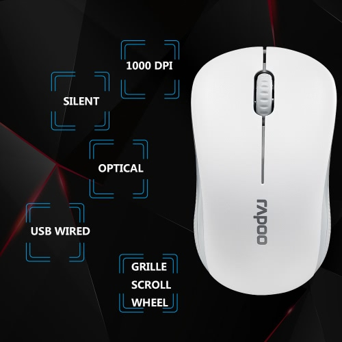 Rapoo N1130 USB Wired Optical Mouse