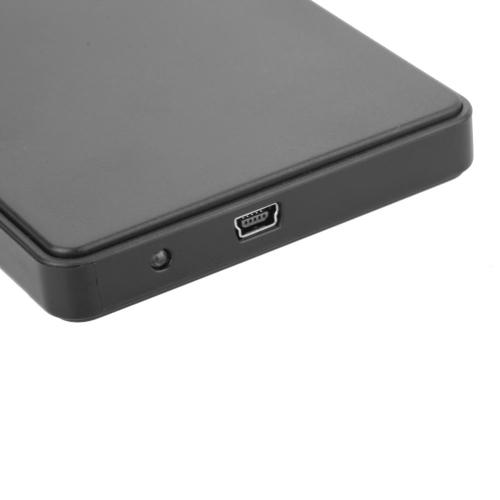 "USB2.0 Portable Mobile HDD External Hard Drive Disk Case 2.5"" for Desktop and Laptop Black"