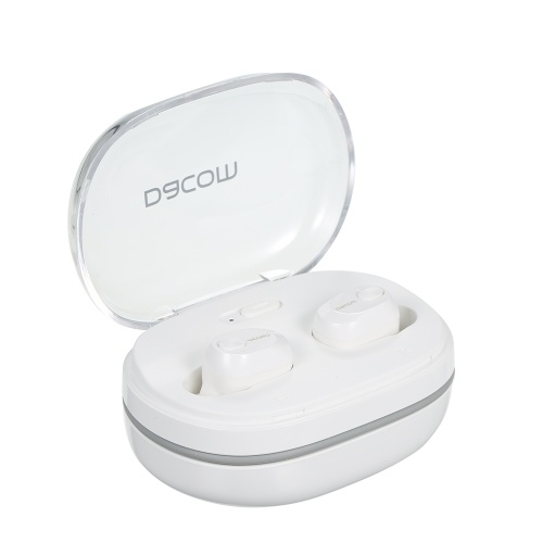 Dacom K6H TWS Bluetooth 4.2 Écouteurs sans fil Mini écouteurs intra-auriculaires stéréo avec microphone HD intégré Micro et étui de charge portable pour iOS Android Windows Noir
