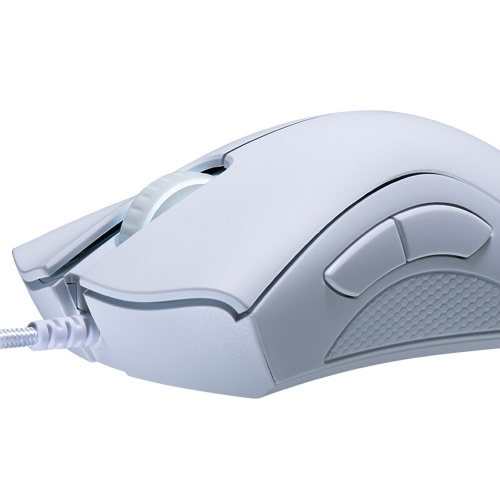 Razer DeathAdder Essential Wired Gaming Mouse 6400DPI Optical Sensor 5 Independently Programmable Buttons Ergonomic Design(White) фото
