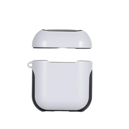 TPU Silicone Fone de Ouvido Capa Protetora para Airpods À Prova de Choque À Prova D 'Água Protetor para Apple AirPods AirPod Acessórios Superfície Lisa (Branco)