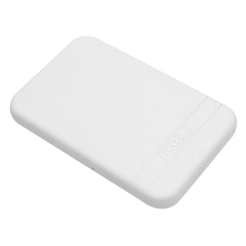 Caja de unidad de disco duro SSD de 2.5 pulgadas USB3.0 SATA Caja de caja externa con cable USB (Blanco)