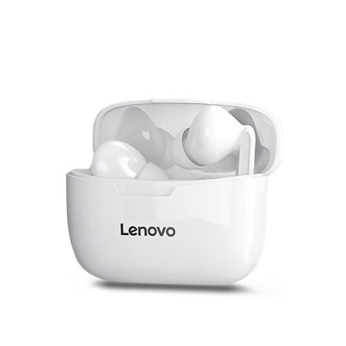 Lenovo XT90 Auriculares inalámbricos BT Auriculares deportivos internos Auriculares impermeables a prueba de sudor de baja latencia con control táctil Blanco