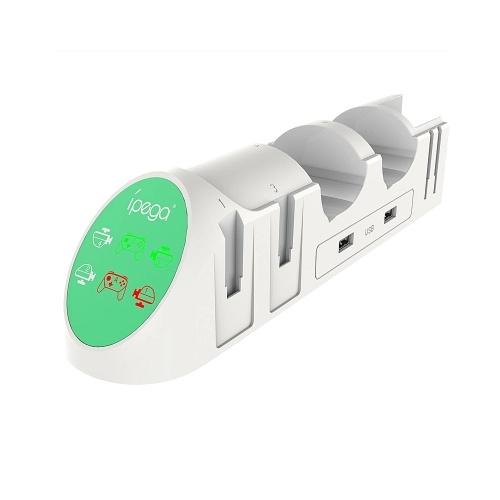 iPega PG-9187 6-в-1 Подставка для зарядного устройства Подставка для зарядного устройства Подставка для Nintend Switch Pro White