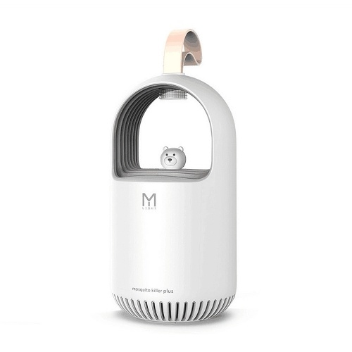 M108 Mosquito Killer Lamp USB Electric Repellent UV Mosquito Trap Mute Insect Killer Lovable Bear for Home Use White
