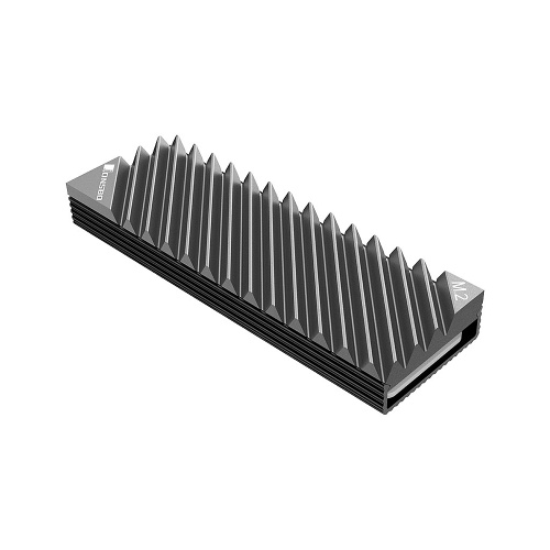 M.2-3 Radiator M.2 SSD Heat Sink Aluminum Heat Sink Tool-free Design Radiator with Thermal Pad for M.2 2280 SSD Grey