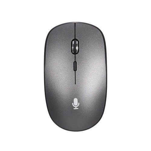 Intelligent Voice Mouse Multi-function Translation Mouse 2.4G+BT Wireless Mouse Support Voice Typing Search Translation Grey