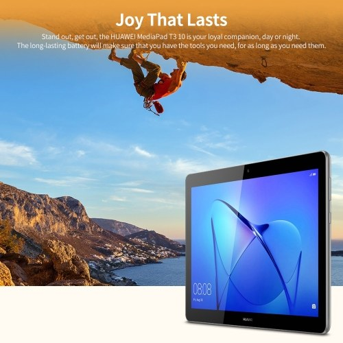 HUAWEI MediaPad T3 10 Tablet 9.6 inch Qualcomm Snapdragon 425 Quad-core CPU 3GB+32GB Memory EMUI 8.0 System Support LTE Grey