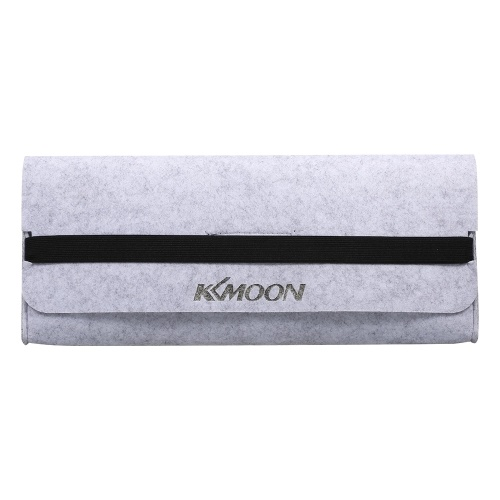 Sac de rangement pour clavier KKmoon sac de clavier 87 touches en feutre bande élastique pratique pochette durable sac de clavier étanche à la poussière gris