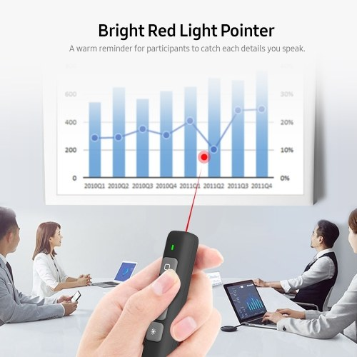 2.4GHz Wireless Presenter Remote Red Light Pointer Presentation Clicker Wireless Presenter PPT Flip Pen with USB Receiver Grey, TOMTOP  - buy with discount