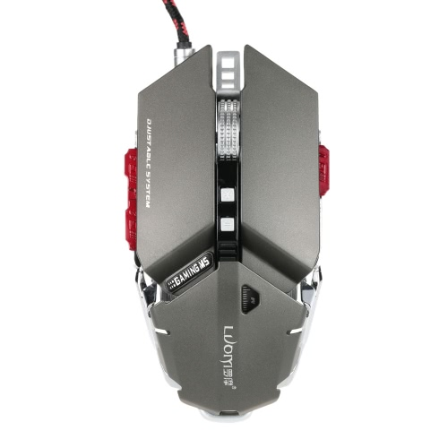 LUOM G50 Game Game Mysz optyczna Myszy 4000DPI / CPI Przyciski 10D Profesjonalne Programowanie Makro RGB Oddychanie LED USB Wired