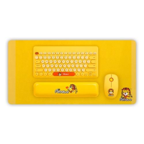 FD LK586 Teclado Sem Fio Mouse Set 78 Teclas 1600 DPI 2.4G Sem Fio Teclado Mouse Combo para Mac Windows Laptop Notebook Desktop
