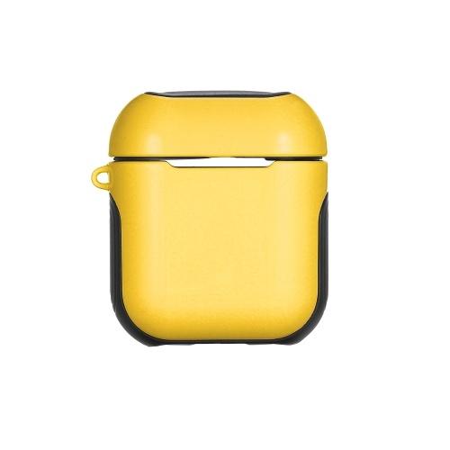 TPU Silicone Fone de Ouvido Caso Capa Protetora para Airpods À Prova de Choque À Prova D 'Água Protetor para Apple AirPods AirPod Acessórios Superfície Lisa (Amarelo)