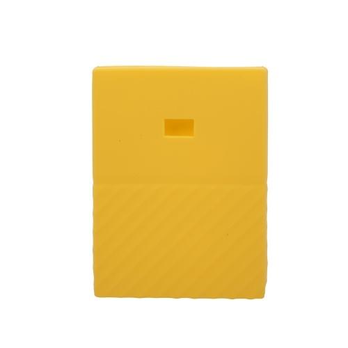 Жесткий диск Силиконовый чехол Жесткий диск Нескользящая защитная крышка Защитная крышка от царапин и ударов SSD Оболочка для WD my passport 1t 2T Желтый фото