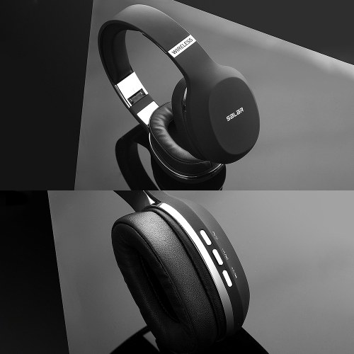 Salar N12 Wireless BT Gaming Headset HiFi Deep Bass Headphone PC Gamer Stereo Earphone Noise Cancelling Earphone Grey