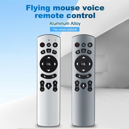 Air Mouse Voice Remote Control 2.4G Wireless Aluminum Alloy Air Mouse Remote Control TK808 Grey