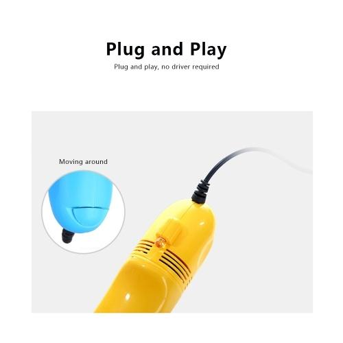 Creative USB Keyboard Vacuum Cleaner Portable Mini Handheld USB Vacuum Cleaner Keyboard Cleaner (Yellow)