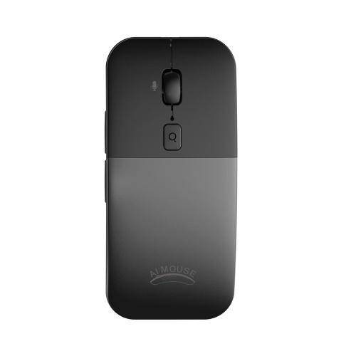 BM01 AI International Voice Mouse Wireless Translation Mice Multiple Languages Translator Voice Type Speech Search Grey