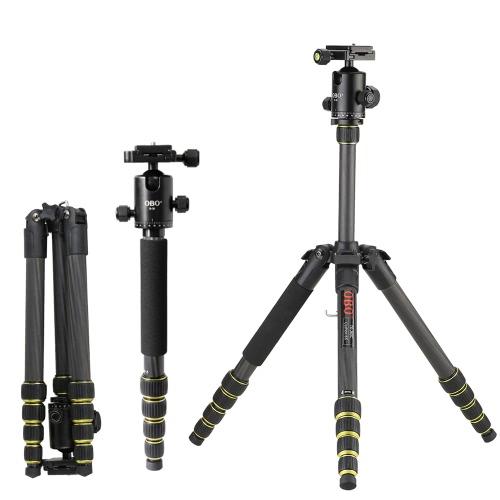 OBO Foldable Portable Extendable Carbon Fiber DSLR Camera Tripod Unipod Monopod