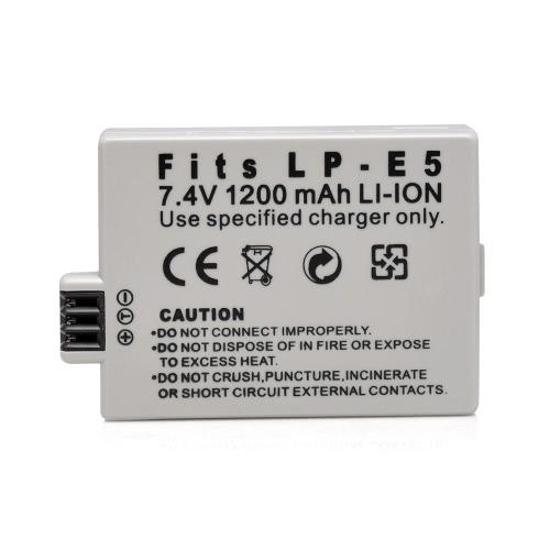1200mAh 7.4V LP-E5 LPE5 Перезаряжаемый Литий-ионный Аккумулятор Камеры/Видеокамеры Аккумулятор для Canon SLRsT1i,XS,XSi,EOS 450D 500D 1000D