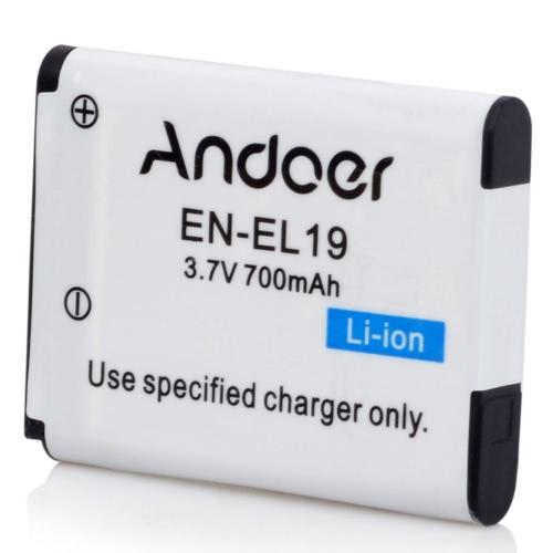 Andoer EN-EL19 Rechargeable caméra caméscope Lithium Li-ion batterie pour Nikon S32 S33 S7000 S6900 S6800 S3700 S2900 S2500 S4100 S3100