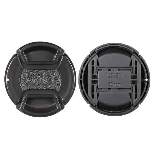 58mm Center Pinch Snap-on Lens Cap Cover Keeper Holder for Canon Nikon Sony Olympus DSLR Camera Camcorder