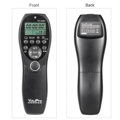 Fotografía Video YouPro YP-VPR1 por cable obturador Release Control remoto LCD pantalla del temporizador de para Sony DSLR cámara videocámara