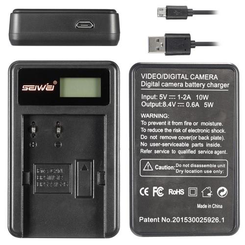 2 pack 7.4V 2000mAh batterie Rechargeable Li-ion caméra avec écran LCD USB Chargeur Kit pour Canon EOS 300 5 D 10D 20D 30D D 50 40D D30 D60 produit compatible pour Canon BP-511 BP-511 a batterie