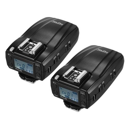 YouProプロ-6C 2.4GワイヤレスE-TTL 1 / 8000S HSSフラッシュトリガートランスミッタレシーバトランスミッタキヤノンEOS 7D2 5D3 5DR 5DRS 70D 80D 6D 760D 750D 700D 650D 600D 550D反逆のT2i T3i T4i T5i T6i T6sデジタル一眼レフカメラデジタル一眼レフカメラ用