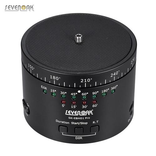 Sevenoak SK-EBH01 Proの電子Panaromicタイムラプス写真三脚ボールパンヘッドマックス。スポーツカムコンパクトシステムカメラスマートフォン用の負荷容量2キロ/ 8.8Lbs