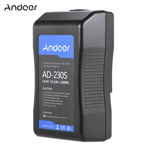 Andoer AD-230S Broadcast Quality V-Mount 230Wh Rechargeable Li-ion Battery for Professional DSLR Video Camera