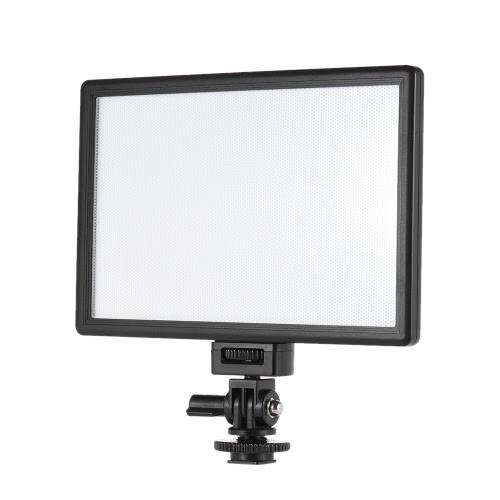 Viltrox L116T Profesjonalne Ultra-cienki LED Light Film Fotografia doświetla regulacją jasności i dwukolorowe Temp. Maksymalna jasność 987LM 3300K-5600K CRI95 + Canon Nikon Sony Panasonic DSLR aparatu i kamery