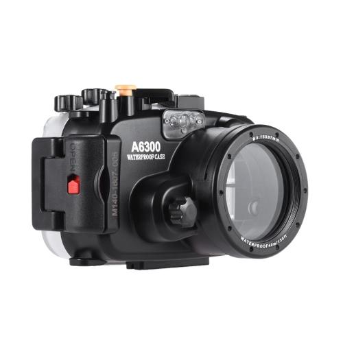 Meikon SY-22 40m / 130ft Camera Case étanche Underwater Camera Boîtier étanche noir pour Sony A6300