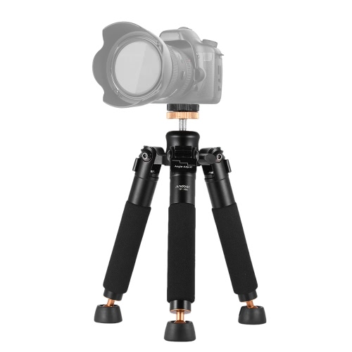 Andoer TP-166 Portable Tabletop Desktop Macro Mini Aluminum Alloy Tripod Unipod Monopod Stand Support Holder Stabilizer for Canon Nikon Sony Sigma Camera