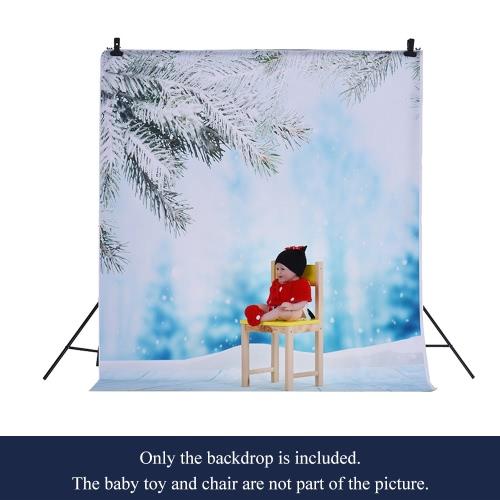 1,5 * 2m / 4,9 * Tło 6.5ft Fotografia tle Computer Printed Śnieg Lód Wzorzec dla dzieci Kid Dziecko Noworodek Pet zdjęcie portret studio fotografowania