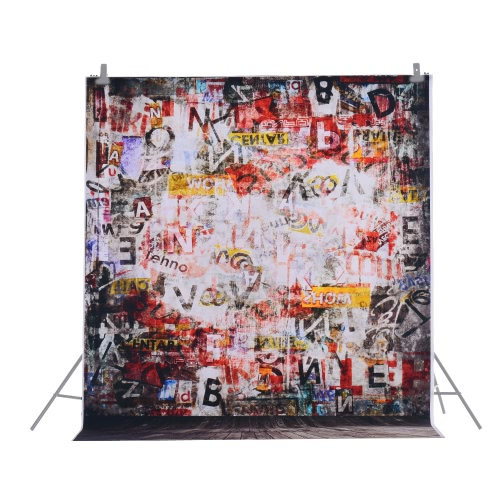 1,5 * 2m backdrop Photographie Ordinateur Imprimé Doodle Scribble Motif