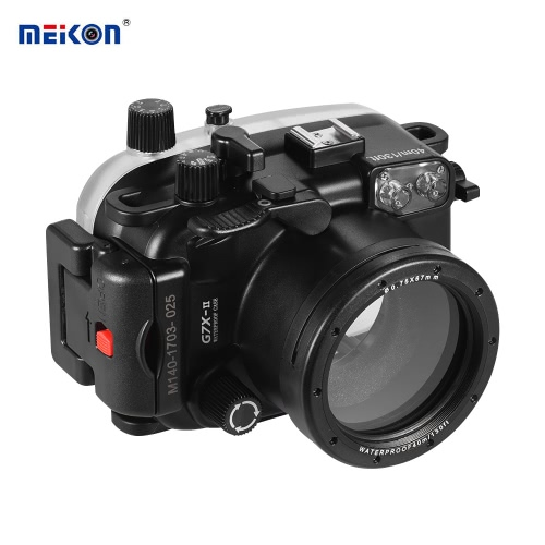 MEIKON Waterproof Camera Diving Housing Protective Case Cover Underwater 40m/ 130ft for Canon G7X Mark II