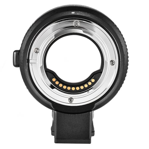 Commlite CM-AEF-MFT Lens Adapter Support AF Auto Focus IS Stabilization Exif Transmission Electronic Aperture Control for EF/EF-S Lens to M4/3 Camera for Panasonic GH3 GH4 GX7 GF5 GF6 GX1 GM for Olympus PL5 PL6 OM-D E-M5 E-M1