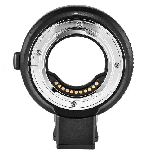 Commlite CM-AEF-MFTレンズアダプターサポートAFオートフォーカスIS安定化Exif透過EF / EF-S用電子開口制御パナソニックGH3用M4 / 3カメラGH4 GX7 GF5 GF6 GX1 GM for Olympus PL5 PL6用OM-D E-M5 E-M1