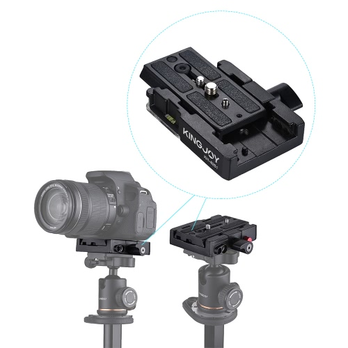 "Kingjoy KH-6251 Kamera Kamera Szybka Płytka Adapterowa Statyw Monopod ze stopu aluminium 1/4 ""3/8"" do Manfrotto 501HDV / 503HDV / 701HDV / 577/519/561 / Q5"